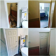 New undersized bathroom door fitted this morning