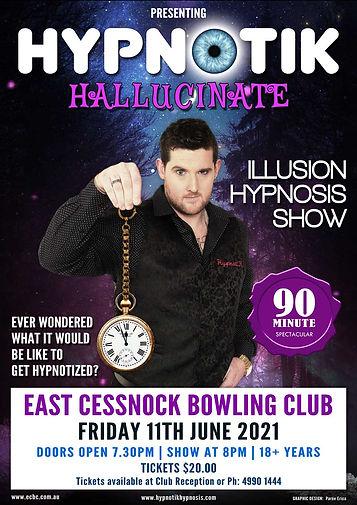 Hypnotik | East Cessnock Bowling Club | Friday 11th June