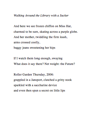 Walking Around the Library with a Sucker (2014)