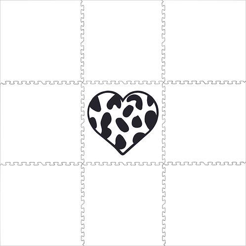 Black & White Leopard Heart