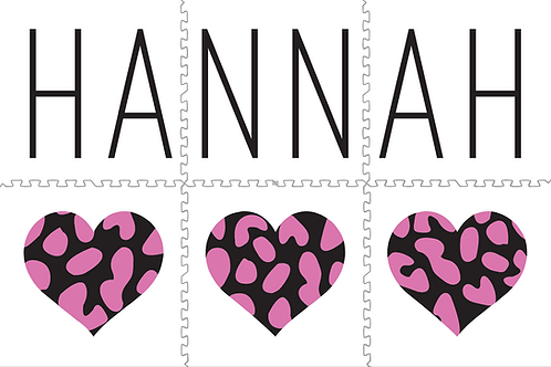 Black & Pink Leopard Hearts