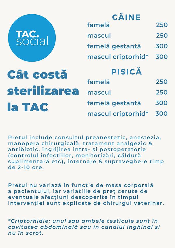 lista preturi sterilizare TAC.social