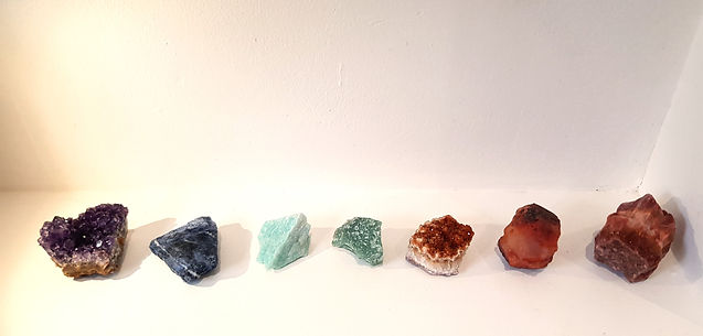 Crysals, Raw Crystal, Amethyst, Carnelian, Red Calcite, Adventurine, Amazonite, Citrine