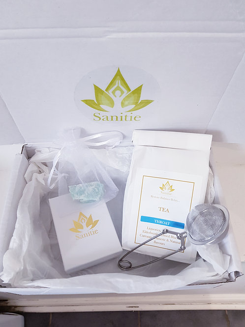 Sanitie Throat chakra Gift set (with small crystal)