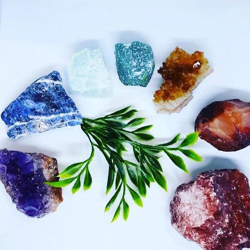 Sanitie Chakra crystal gift set.