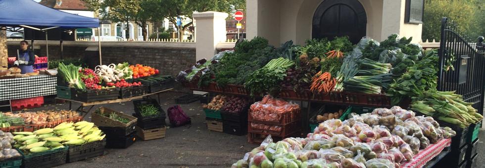 Barnes farmers market in August