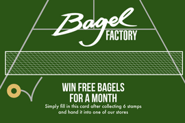Bagel Factoy Wimbledon promotion