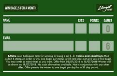 Bagel Factoy Wimbledon promotion
