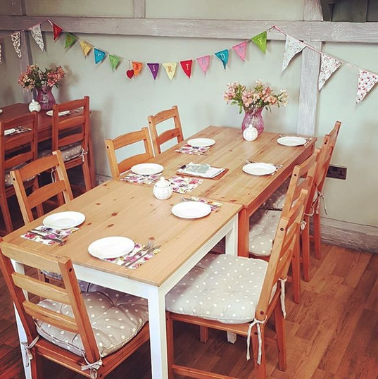 Celebrate with us! We love decorating to
