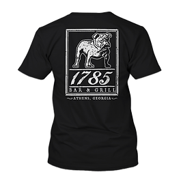 1785 Bulldawg Tshirt in Black NO BACKGRO
