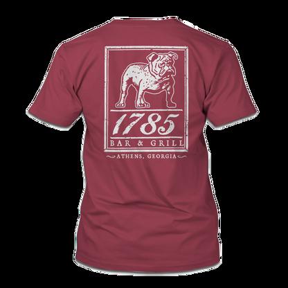 1785 bulldawg tshirt in crimson no backg