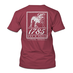 1785 Bulldawg Tshirt in Crimson NO BACKG