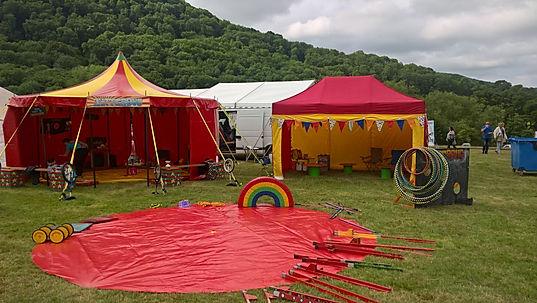 circus skills tent