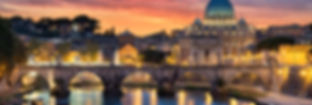 ROME ITALY WATER BRIDGE CATHEDRAL SUNSET
