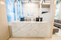 dental office reception desk carrara