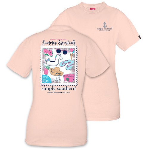 825ff7a880eb4 Simply Southern PREPPYESSENTIALS-ROSE Short Sleeve T-Shirt