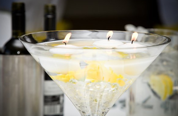 Martini floating candles
