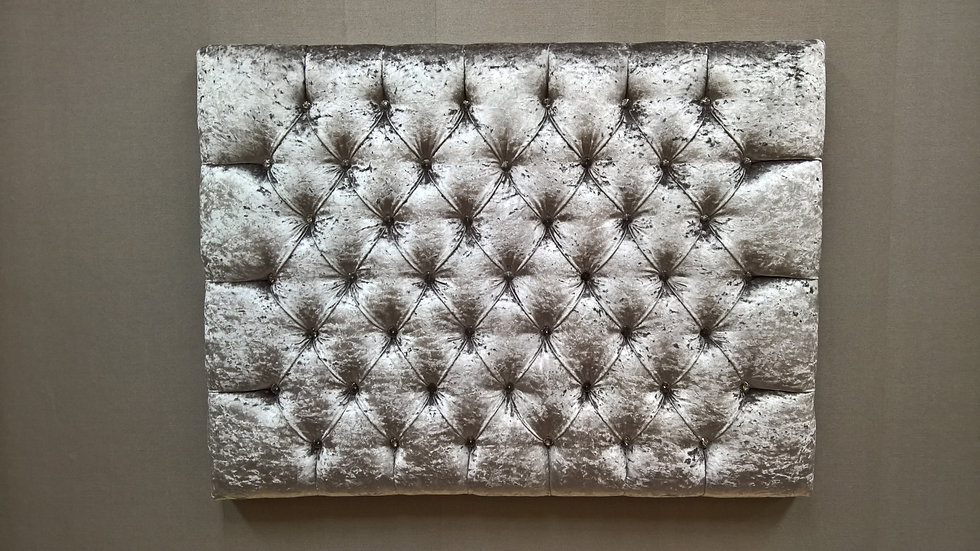 Deep Buttoned Headboard with crystal buttons