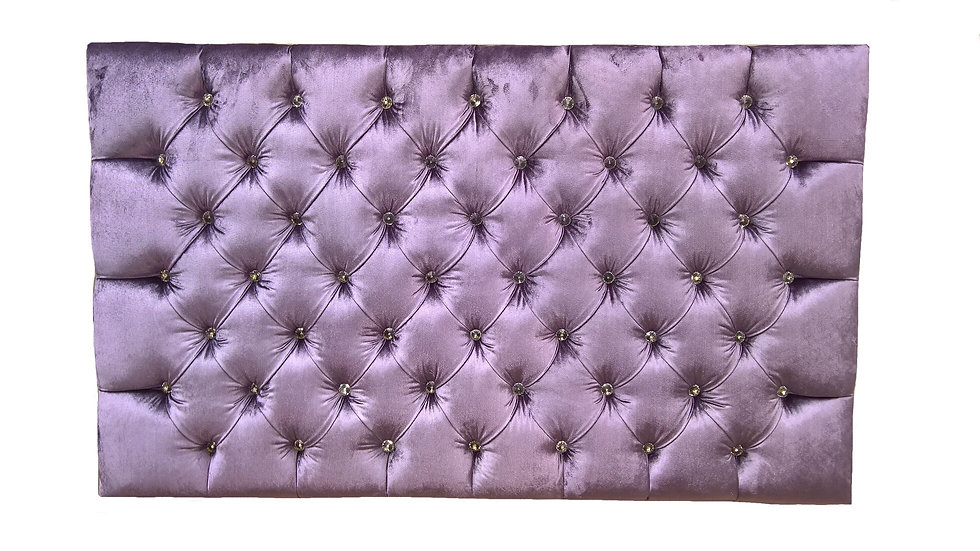 5ft Deep Buttoned Headboard with crystal buttons