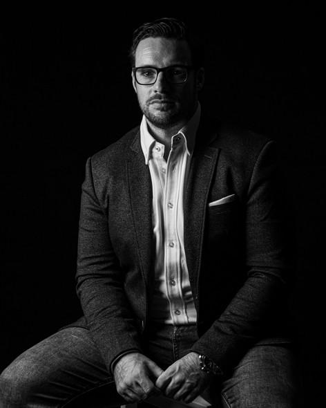 Black and White Portrait | Wheatman Photography