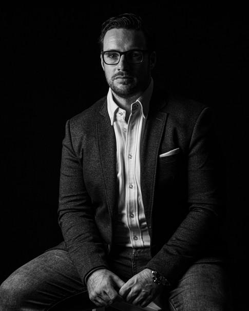 Black and White Portrait   Wheatman Photography