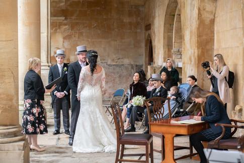 Roman Baths Wedding 2   Gloucestershire wedding photographer   Wheatman Photography
