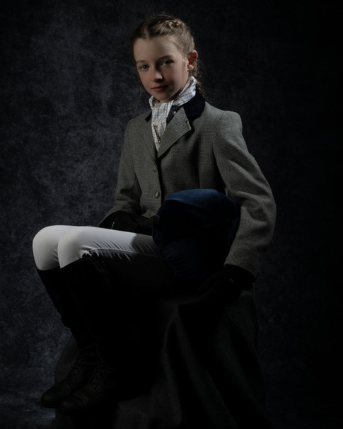 Low Key   Dressage Portrait of Young Girl   Wheatman Photography