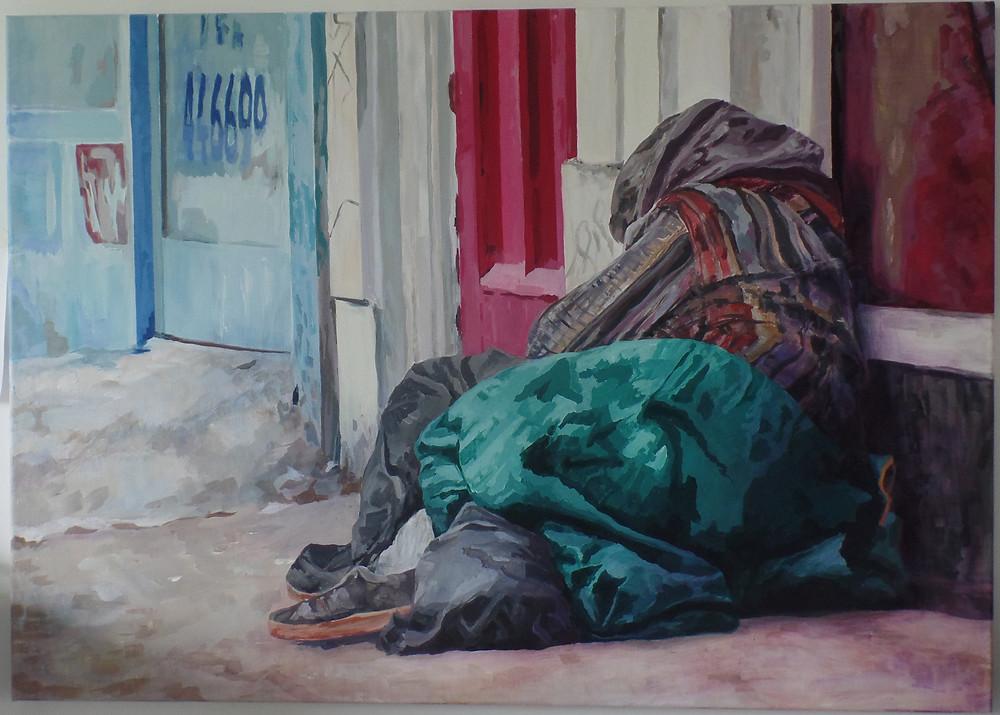 Jessie Davies, 4466, acrylic on canvas, 4'x3'