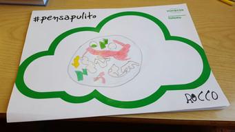 #PensaPulito: i disegni della 1A della scuola Damiano Chiesa.