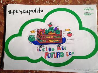 #PensaPulito: i disegni della classe 5C della Scuola G. Caproni di Roma.