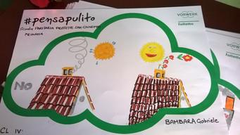 #PensaPulito: i disegni della classe 4^ della Scuola Paritaria Protette S. Giuseppe.