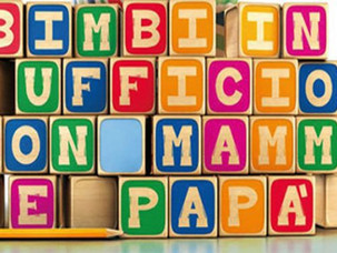 BIMBI IN UFFICIO CON MAMMA E PAPA'