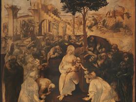 """""""Adorazione dei magi"""" di Leonardo da Vinci"""