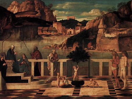 """""""Allegoria Sacra"""" di Giovanni Bellini"""