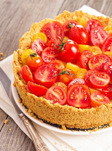 Cheesecake con pomodori misti
