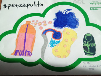 #PensaPulito: i disegni della classe 5 A Scuola Primaria G. Caproni, Roma.