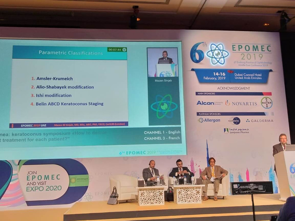 As a guest speaker, Dr. Mazen Sinjab contributes to EPOMIC conference by a number of lectures and instructional courses.