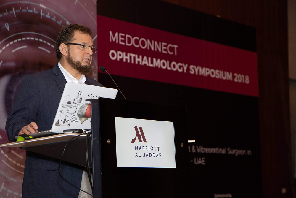 Dr. Mazen Sinjab lectures in the scientific day of Medcare Medical Group.