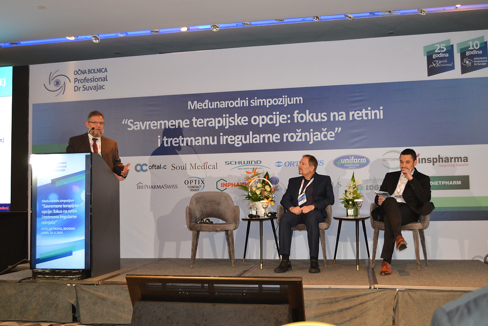 A scientific event was held in the capital, Belgrade, Serbia, in honor of Dr. Mazen Sinjab by OČNA BOLNICA PROFESIONAL DR SUVAJAC. Dr. Mazen Sinjab presented some lectures, and he received hospitality and honor.