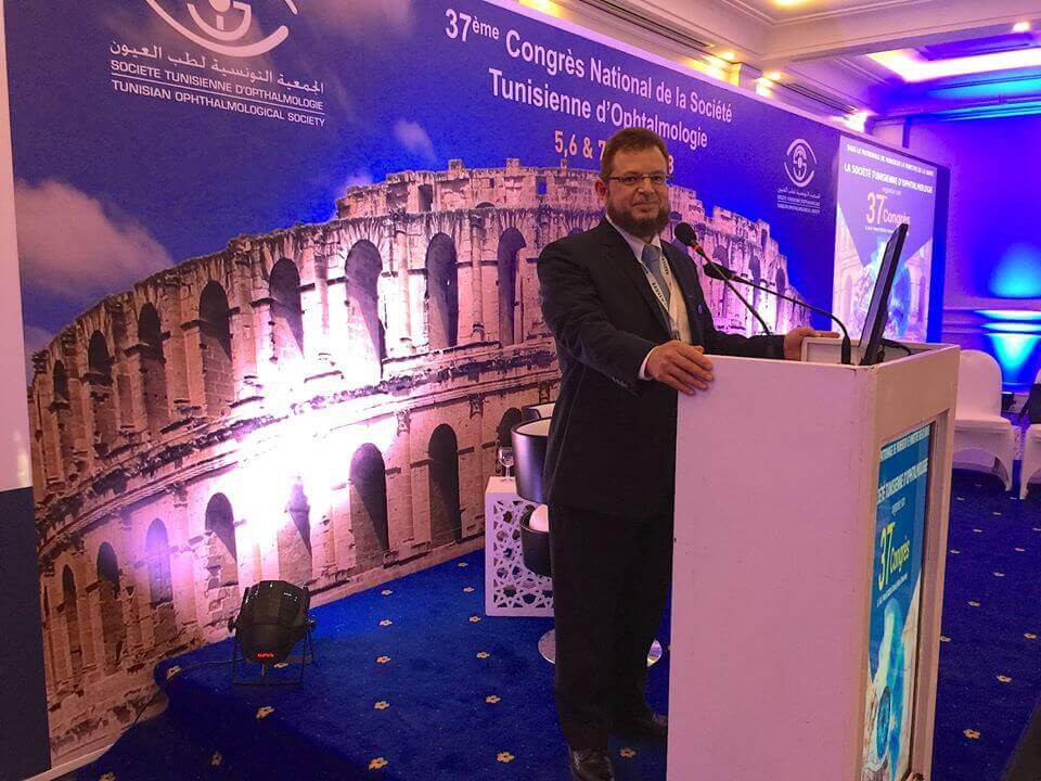As an international guest speaker, Dr. Mazen Sinjab contributes to the scientific activities of The Tunisian Ophthalmology Conference by a number of presentation and courses