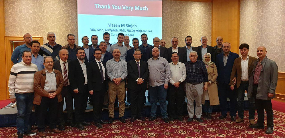 Dr. Mazen Sinjab lectures in Beirut about the latest technologies in Presbyopia Treatment.