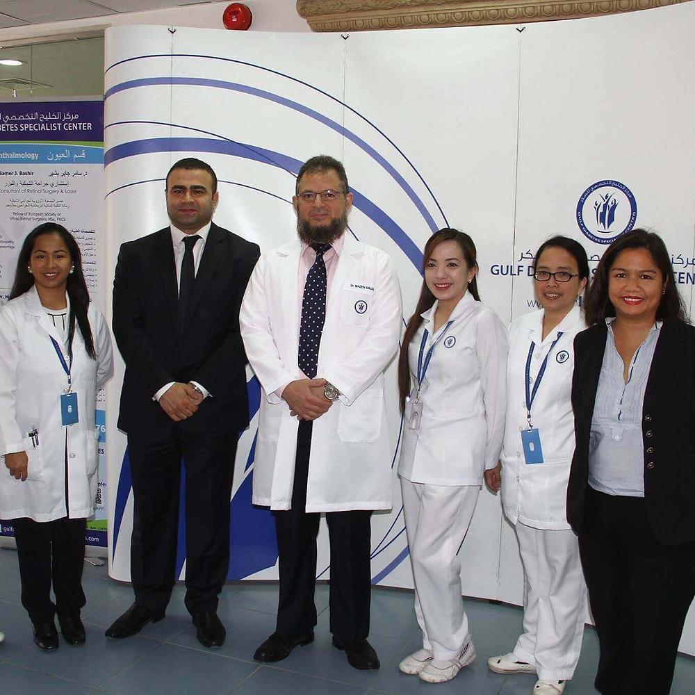 الدكتور مازن سنجاب يشارك في اليوم العالمي للداء السكري في مركز الخليج التخصصي للسكر في مملكة البحرين.