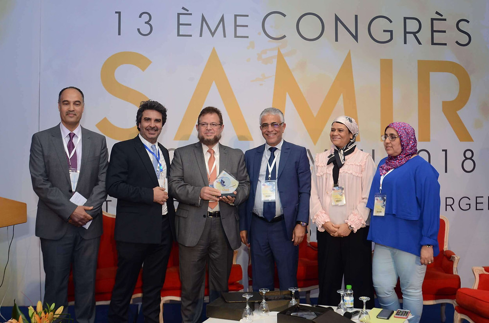 Dr. Mazen Sinjab was honoured by Le SAMIR conference with The Golden Medal for his great efforts in international medical education.