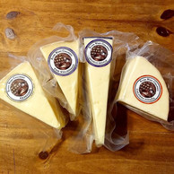 Delicious cheese from River Whey Creamery. Made with fresh local unpasteurized cow's milk and aged for 6+months.