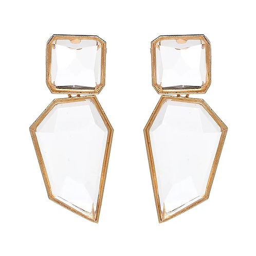 Clear Gems Earrings
