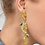Thumbnail: Large Gem Lemon Slice Earrings