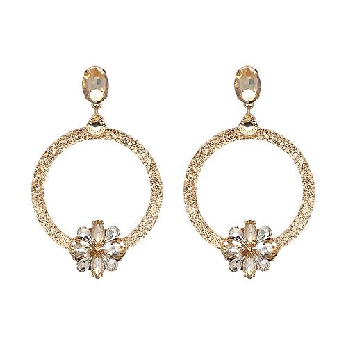 Glitter Gold Hoop Earrings