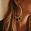 Thumbnail: Gold Hoop Earrings w Charms