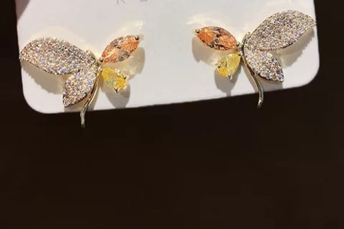 Gold Plated Butterfly Stud
