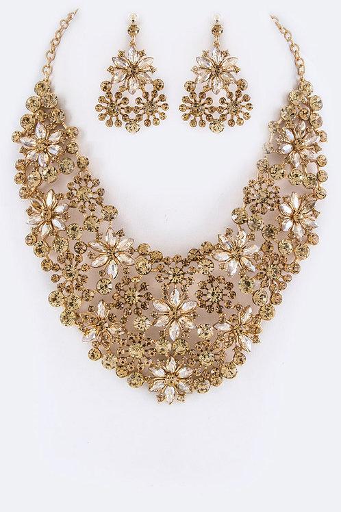 Crystal Statement Necklace Set